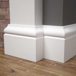 Listwa przypodłogowa MDF biała SKCM51, 10x1,6x244cm lakierowana wilgocioodporna, cena za mb.