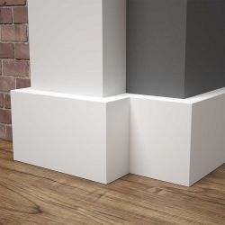Listwa przypodłogowa MDF biała SKCM91, 6x1,6x244cm lakierowana wilgocioodporna, cena za mb.