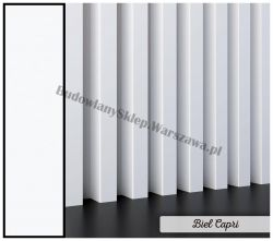 Lamele dekoracyjne panele pionowe listwy 3d ozdobne na ścianę lub sufit 2,8m kolor BIEL CAPRI, białe listwy, biały matowy