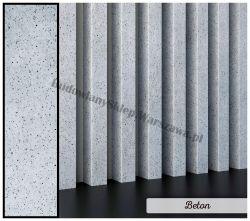 Lamele dekoracyjne panele pionowe listwy 3d ozdobne na ścianę lub sufit 2,8m kolor BETON