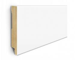 Listwa przypodłogowa MDF 7cm  SKL7  7x1,2x207cm biały półmat wodoodporna, cena za mb