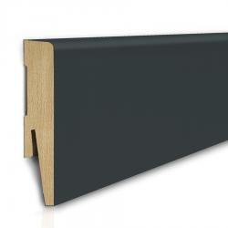 Listwa przypodłogowa MDF 8cm  SKL8/ANTRACYT 8x1,6x207cm antracyt wodoodporna, cena za mb