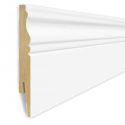 Listwa przypodłogowa MDF 12cm  SKLR12 12x1,6x207cm biały półmat ryfla wodoodporna, cena za mb