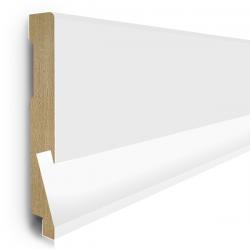 Listwa przypodłogowa MDF LED 10cm  SKL10/LED 10x1,6x207cm biały półmat wodoodporna, cena za mb