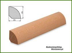 Ćwierćwałek bezsęczny bukowy SKB2121, szer. 21mm x wys. 21 mm x dł. max 3000 mm, cena za mb