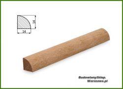 Ćwierćwałek bezsęczny dębowy SKD1414/180 , szer. 14 mm x wys. 14 mm, cena za mb