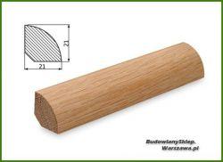 Ćwierćwałek bezsęczny dębowy SKD2121/110  , szer. 21mm x wys. 21 mm , cena za mb