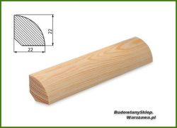 Listwa przypodłogowa sosna bezsęczna SKS2222/90 - szer. 22mm x wys. 22mm, cena za mb