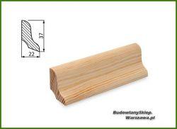Listwa przypodłogowa sosna bezsęczna SKS3722/100 - szer. 22mm x wys. 37mm, cena za mb