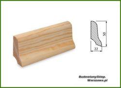 Listwa przypodłogowa sosna bezsęczna SKS5022/55 - szer. 22mm x wys. 50mm, cena za mb