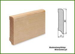 Listwa przypodłogowa cokół sosna bezsęczna SKS8017/37- szer. 17mm x wys. 80mm, cena za mb