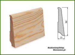 Listwa przypodłogowa sosna bezsęczna SKS9021/25 - szer. 21mm x wys. 90mm, cena za mb