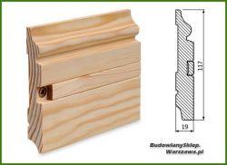 Listwa przypodłogowa cokół sosna bezsęczna SKS11719M/22- szer. 19mm x wys. 117mm, cena za mb