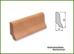 Listwa przypodłogowa buk bezsęczna SKB5022/50 - szer. 22mm x wys. 50mm, cena za mb