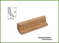 Listwa przypodłogowa dąb bezsęczna SKD3522/110 - szer. 22mm x wys. 35mm, cena za mb