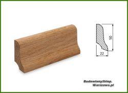 Listwa przypodłogowa dąb bezsęczna SKD5022/58 - szer. 22mm x wys. 50mm, cena za mb