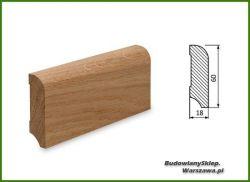 Listwa przypodłogowa cokół dąb bezsęczna SKD6018/47 - szer. 18mm x wys. 60mm, cena za mb