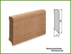 Listwa przypodłogowa cokół dąb bezsęczna SKD8017/22 - szer. 17mm x wys. 80mm, cena za mb