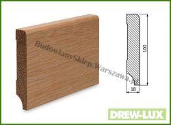 Listwa przypodłogowa cokół dąb bezsęczna SKD10018/23 - szer. 18mm x wys. 100mm, cena za mb