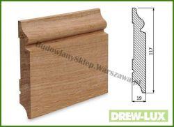 Listwa przypodłogowa cokół dąb bezsęczna SKD11719/20  - szer. 19mm x wys. 117mm, cena za mb