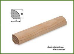 Listwa przypodłogowa jesion bezsęczna SKJ1616 - szer. 16mm x wys. 16mm, cena za mb
