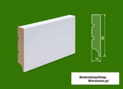 Cokół MDF lakierowany biały SKWD12/26,2.. - szer. 16mm x wys. 80mm, R1, cena za mb