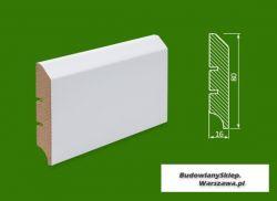 Cokół MDF lakierowany biały SKWD17/26,2.. - szer. 16mm x wys. 80mm, cena za mb