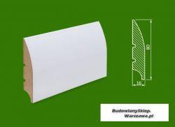 Cokół MDF lakierowany biały SKWD18/26,2.. - szer. 16mm x wys. 80mm, cena za mb