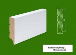 Cokół MDF lakierowany biały SKWD36/23,58.. - szer. 19mm x wys. 80mm, R1, cena za mb
