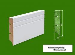 Cokół MDF lakierowany biały SKWD19/26,2.. - szer. 16mm x wys. 80mm, R1, cena za mb
