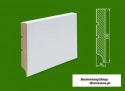 Cokół MDF lakierowany biały SKWD8/20,96.. - szer. 16mm x wys. 100mm, R1, cena za mb