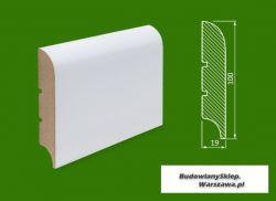 Cokół MDF lakierowany biały SKWD32/18,34.. - szer. 19mm x wys. 100mm, cena za mb