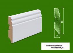 Cokół MDF lakierowany biały SKWS1980/43,2 - szer. 18mm x wys. 80mm, cena za mb