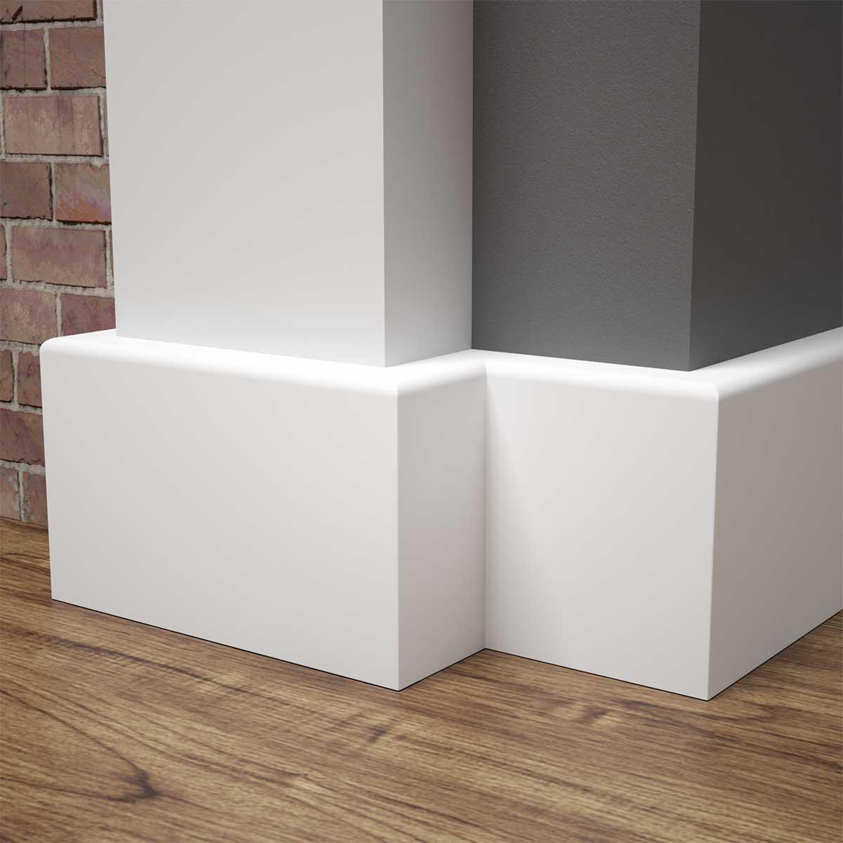 Listwa przypodłogowa MDF biała SKCM3, 8x1,2x244cm lakierowana wilgocioodporna, cena za mb.