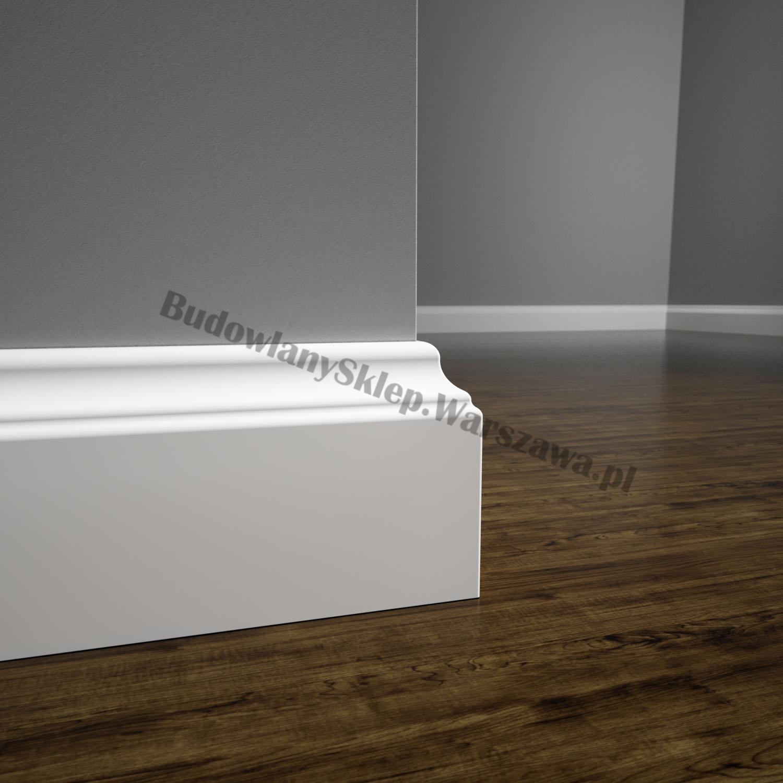 Listwa przypodłogowa MDF biała SKCM6, 8x1,6x244cm lakierowana wilgocioodporna, cena za mb.