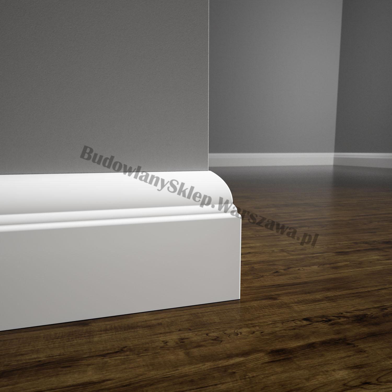 Listwa przypodłogowa MDF biała SKCM7, 8x1,6x214cm lakierowana wilgocioodporna, cena za mb.