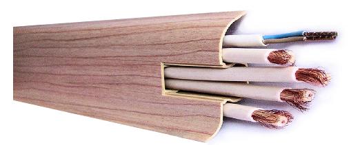 Listwa przypodłogowa PVC  6x2x250cm  SK-006 badi miodowe, cena za mb.