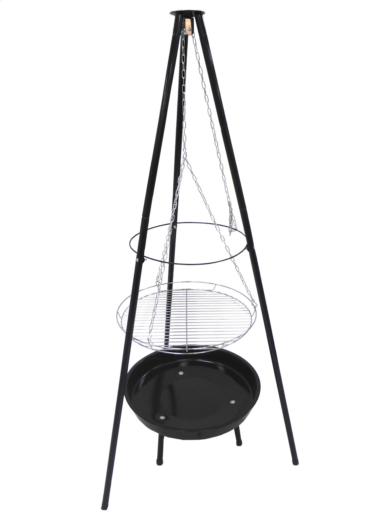 Węglowy grill wiszący na trójnogu 99524 52cm Toya