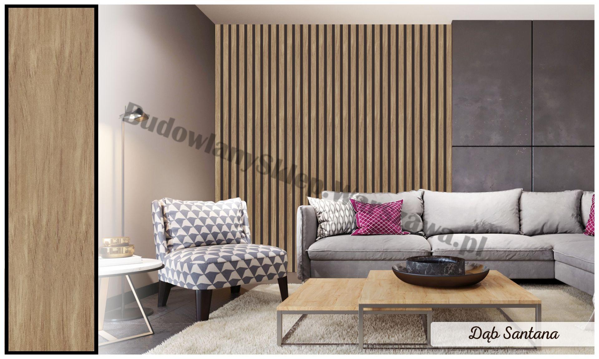 Lamele dekoracyjne panele pionowe listwy 3d ozdobne na ścianę lub sufit 2,8m kolor PUSTYNNY BEŻ