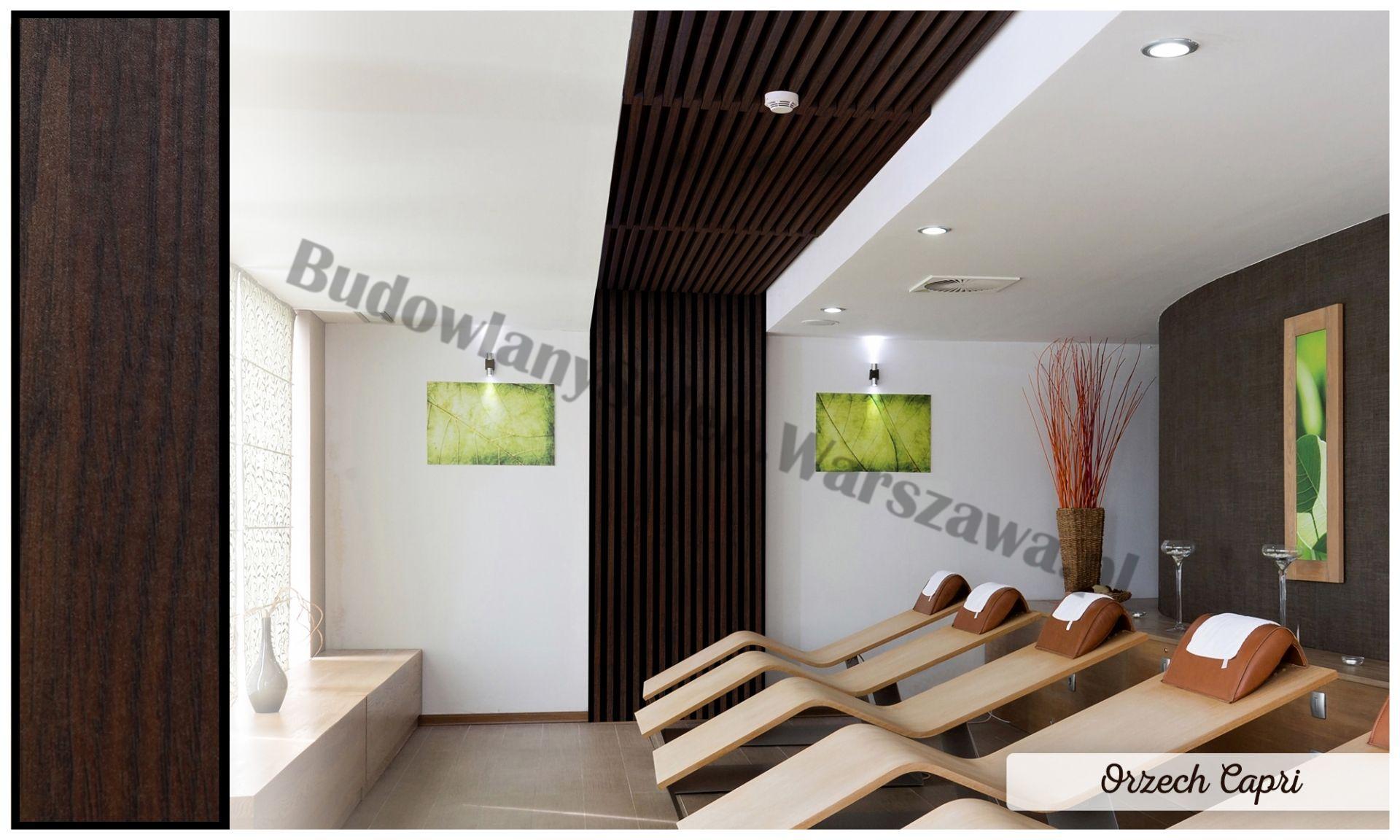 Lamele dekoracyjne panele pionowe listwy 3d ozdobne na ścianę lub sufit 2,8m kolor LM014 DĄB SANTANA
