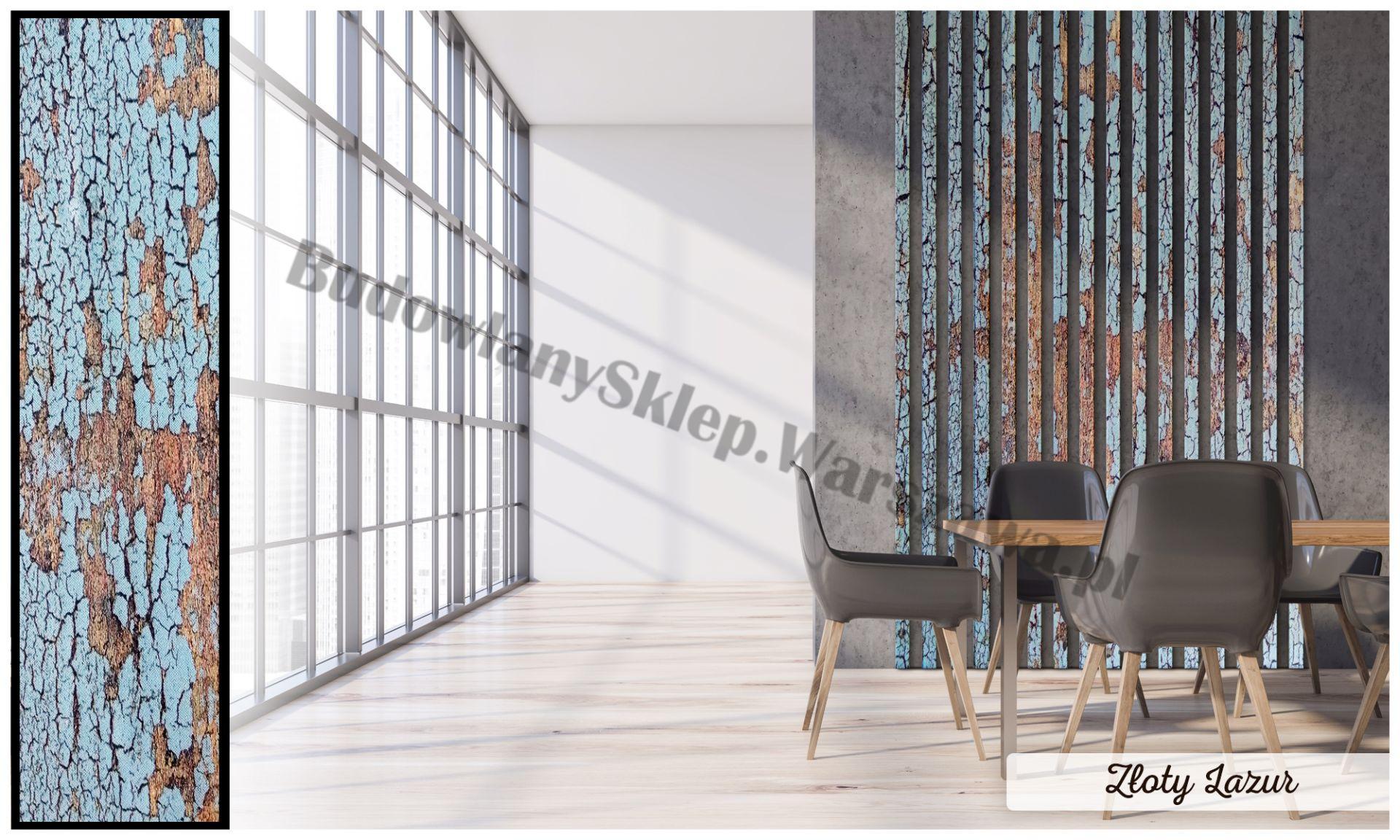 Lamele dekoracyjne panele pionowe listwy 3d ozdobne na ścianę lub sufit 2,8m kolor DĄB KANADYJSKI
