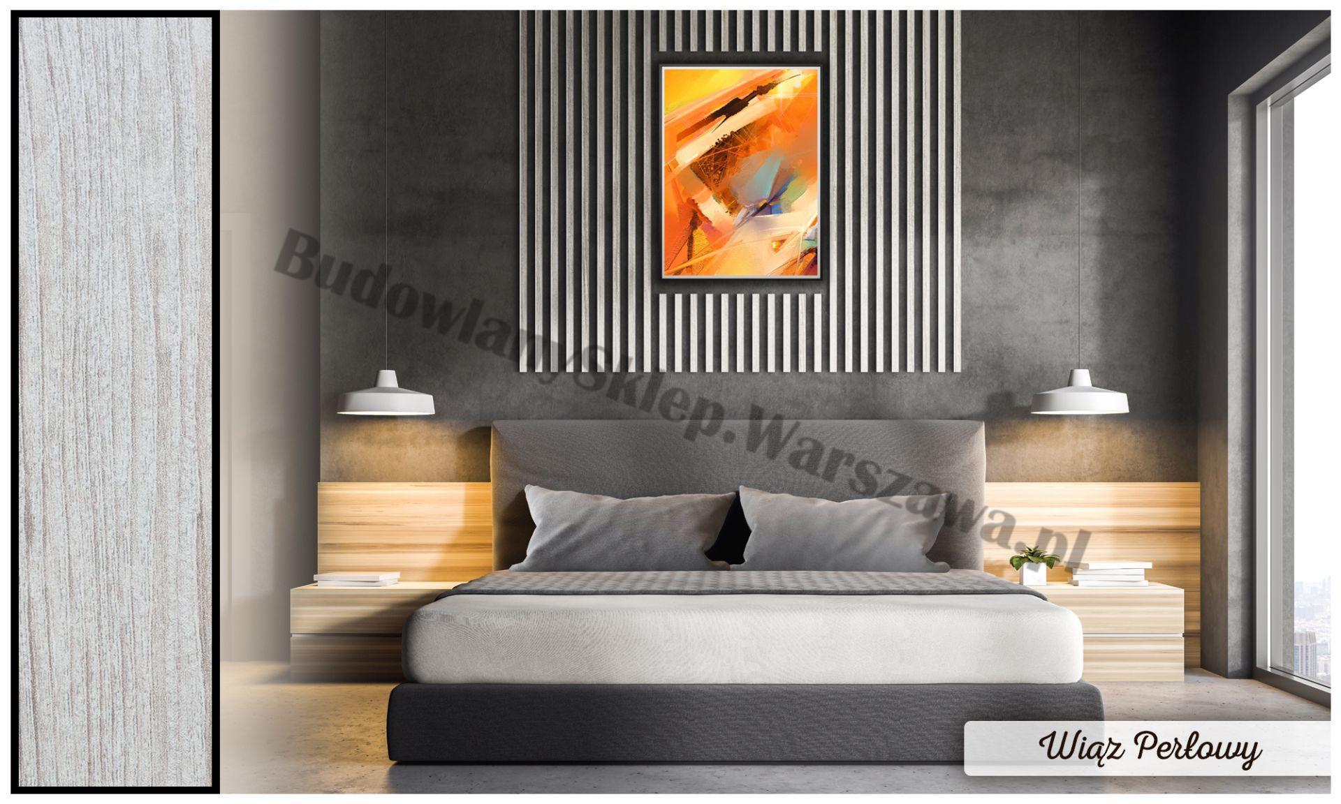 Lamele dekoracyjne panele pionowe listwy 3d ozdobne na ścianę lub sufit 2,8m kolor SZARY jednolity