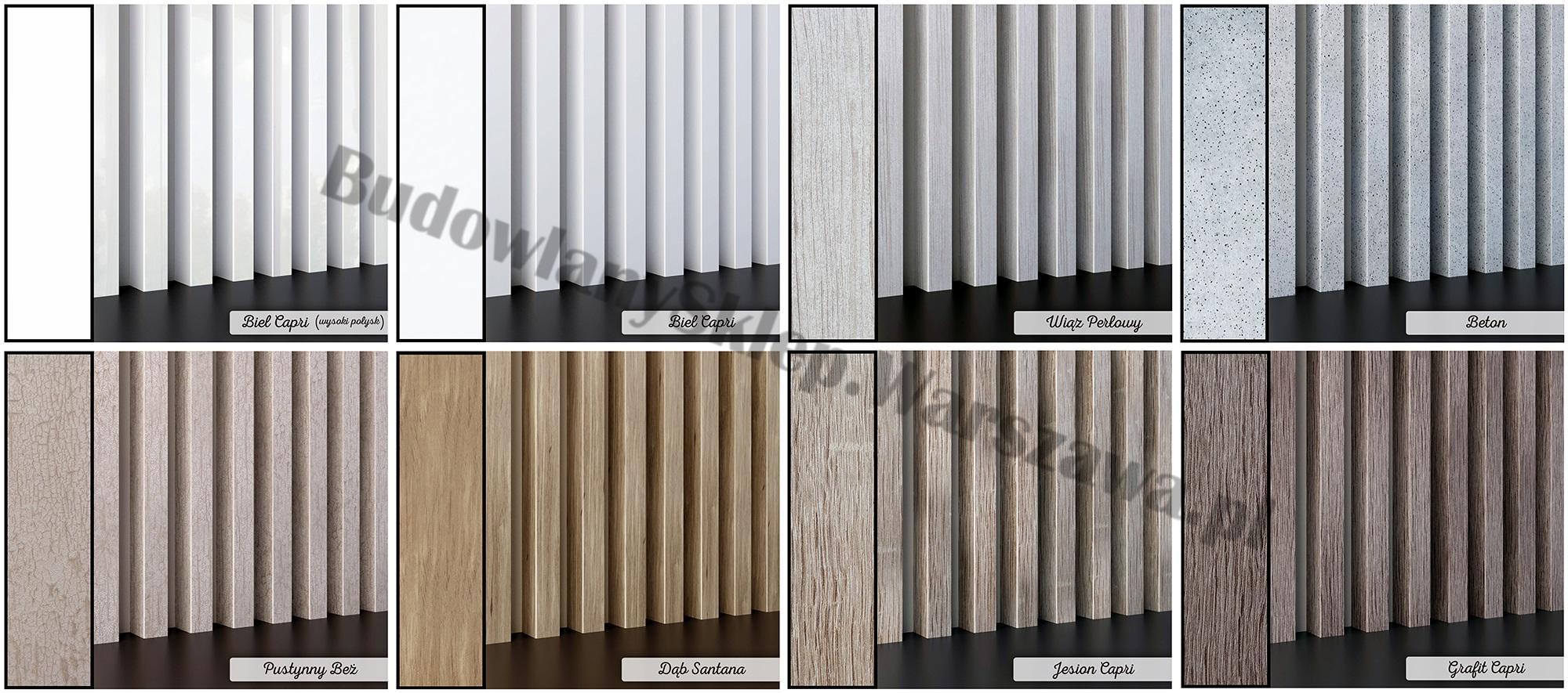 Lamele dekoracyjne panele pionowe listwy 3d ozdobne na ścianę lub sufit 2,8m kolor ORZECH CAPRI