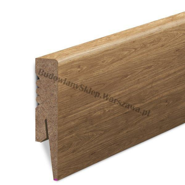 Listwa przypodłogowa SKL8DS dąb naturalny santana 8cm MDF 80x16mm, cena za mb