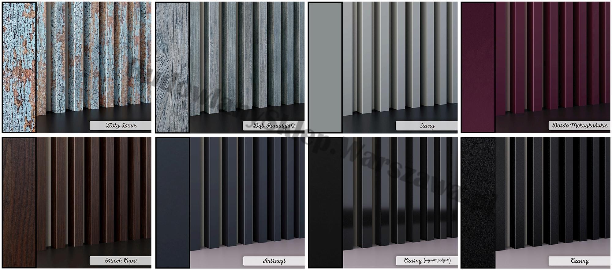 Lamele dekoracyjne panele pionowe listwy 3d ozdobne na ścianę lub sufit 2,8m kolor LM019 Dąb Naturalny Wotan