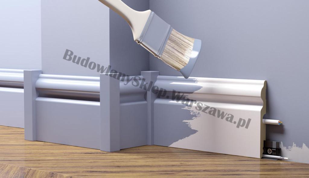 Listwa przypodłogowa MDF SKLR10 ryfla 10x1,6x205cm od ręki Warszawa!, cena za mb