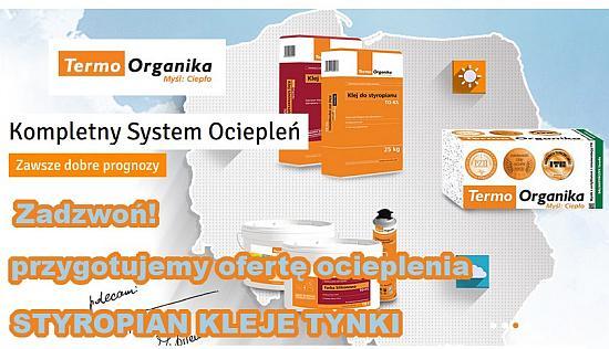 System dociepleń Termoorganika - Tynki termo organika